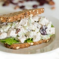 Fall Chicken Salad with Apples, Cranberries & Pecans