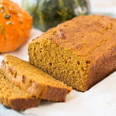 Healthy Pumpkin Bread - the BEST pumpkin bread I've ever had! Made with half the sugar and whole wheat flour | tasteslovely.com