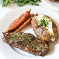 NY Steak with Cilantro Onion Dredge