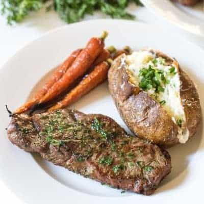 NY Steak with Cilantro Onion Dredge | tasteslovely.com