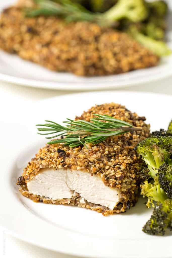 Rosemary Almond Crusted Chicken