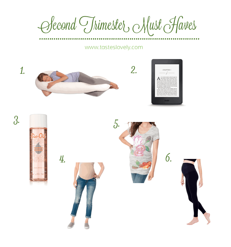 Second Trimester Must Haves Tastes Lovely