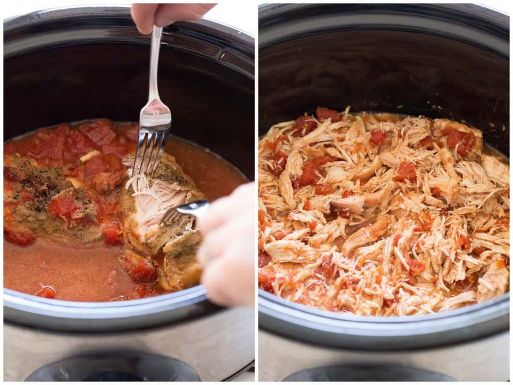 Stupid easy slow cooker Mexican shredded chicken tacos. A true dump and cook crockpot recipe that results in the most flavorful, juicy Mexican pulled chicken. Shawn and I are extremely even tempered. In the 12 years we have been together (yes, 12 years, we started dating at 15 and 16!), we have never had a 5/5(1).