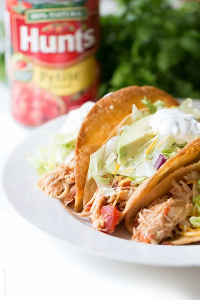 Slow Cooker Mexican Shredded Chicken Tacos - juiciest and most delicious chicken tacos ever! (gluten free)