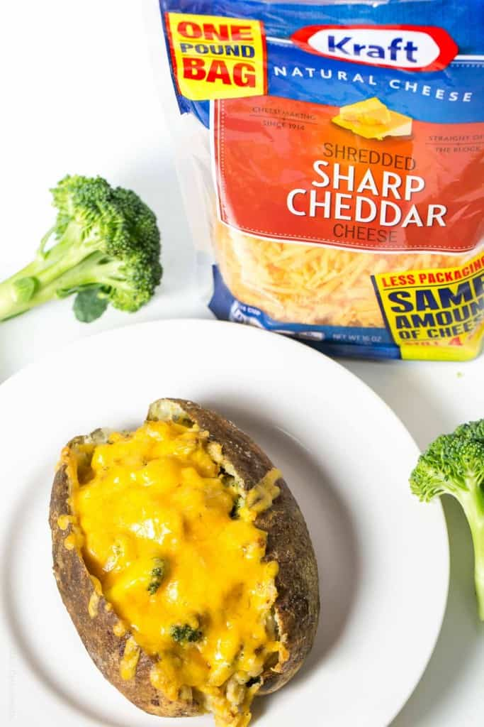 Broccoli Cheddar Stuffed Baked Potato with Chicken