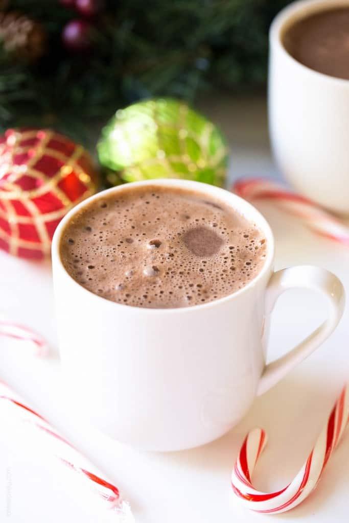 Dairy Free Hot Chocolate with Coconut Whipped Cream (Paleo, Vegan, Gluten Free)