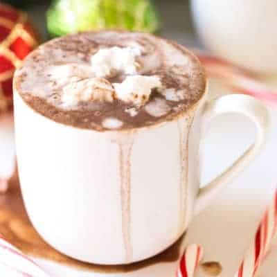 Dairy Free Hot Chocolate with Coconut Whipped Cream | tasteslovely.com