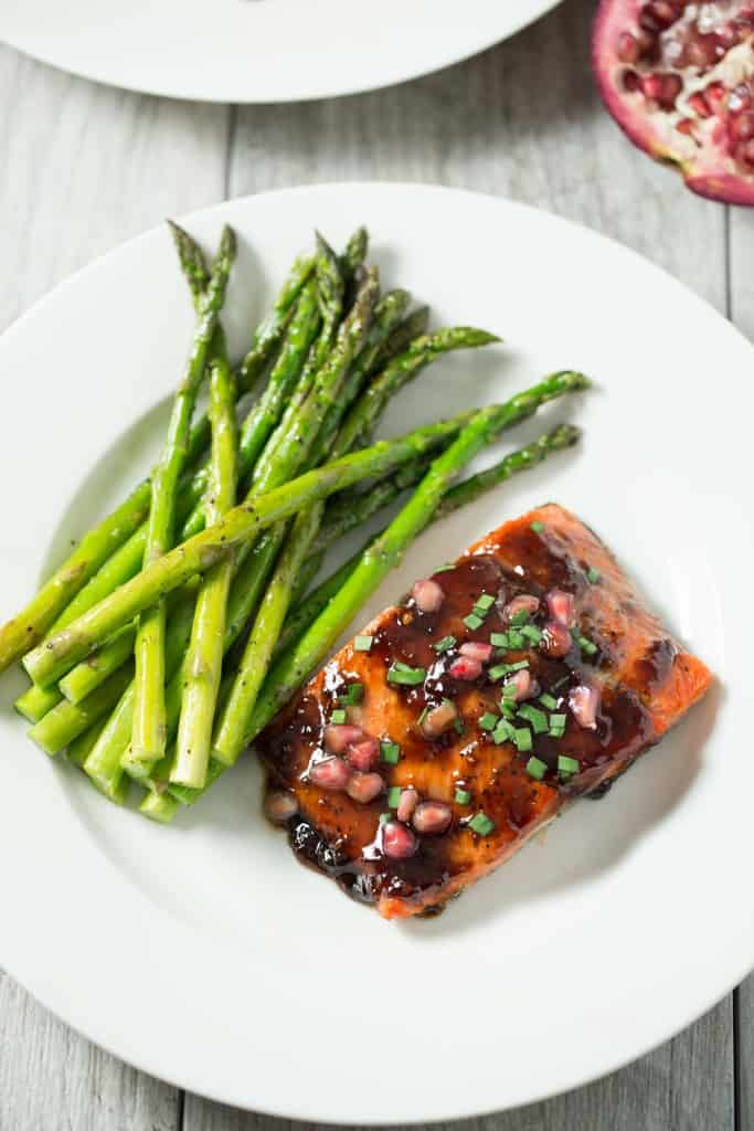 Pomegranate soy glazed salmon tastes lovely for Prime fish brunch