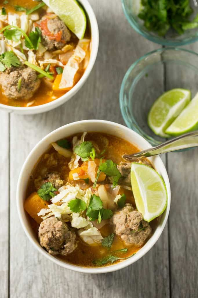 Winter Albondigas With Shredded Cabbage