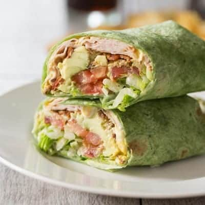 California Turkey Club Wrap - a delicious lunch!