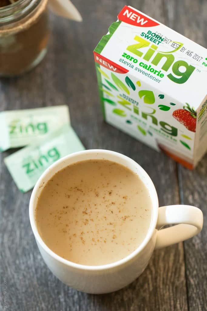 Instant Skinny Chai Tea Latte Mix made with dried spices - just add almond milk and honey!