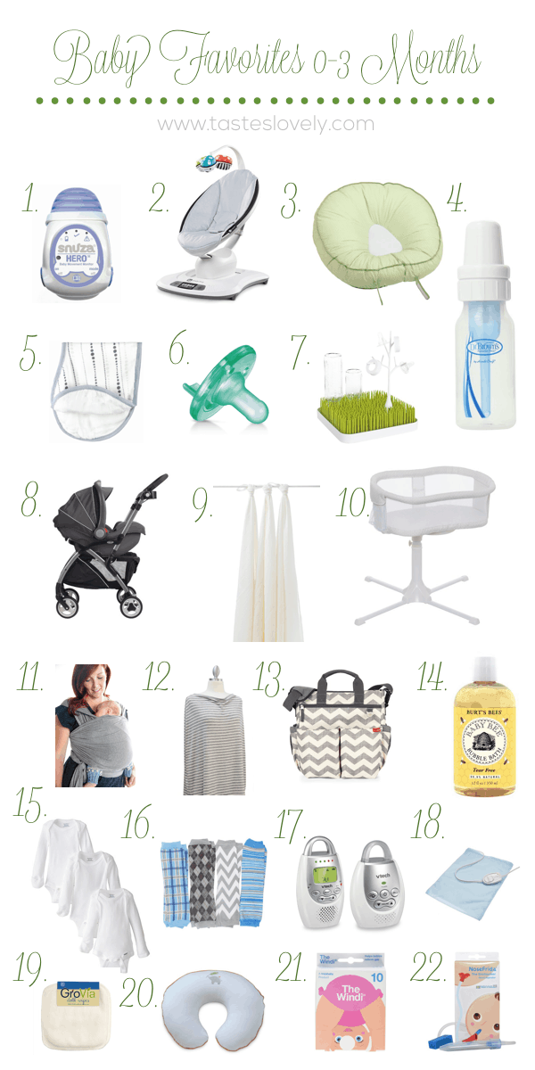 22 Newborn Baby (0-3 Months) Favorites for the Minimialist Momma | tasteslovely.com