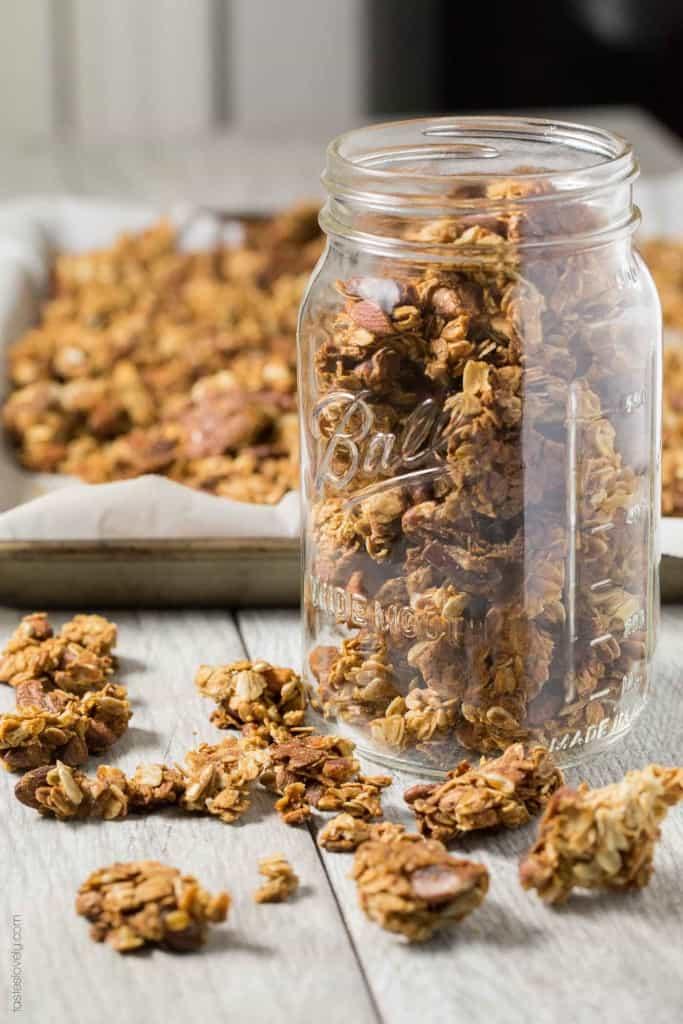 Nutty Coconut Oil Cluster Granola