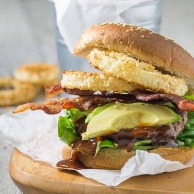 BBQ Bacon Western Burgers | tasteslovely.com
