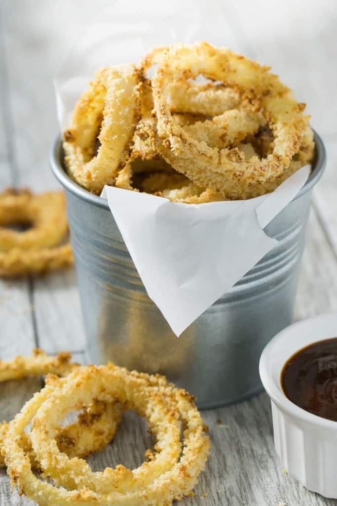 Crispy Oven Baked Onion Rings — Tastes Lovely