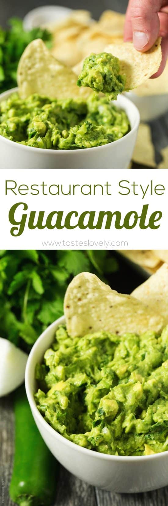Mexican Restaurant Style Guacamole
