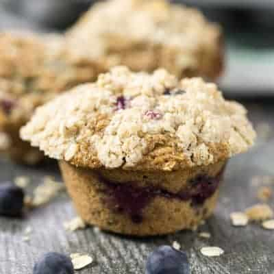 Blueberry Oatmeal Muffins | tasteslovely.com