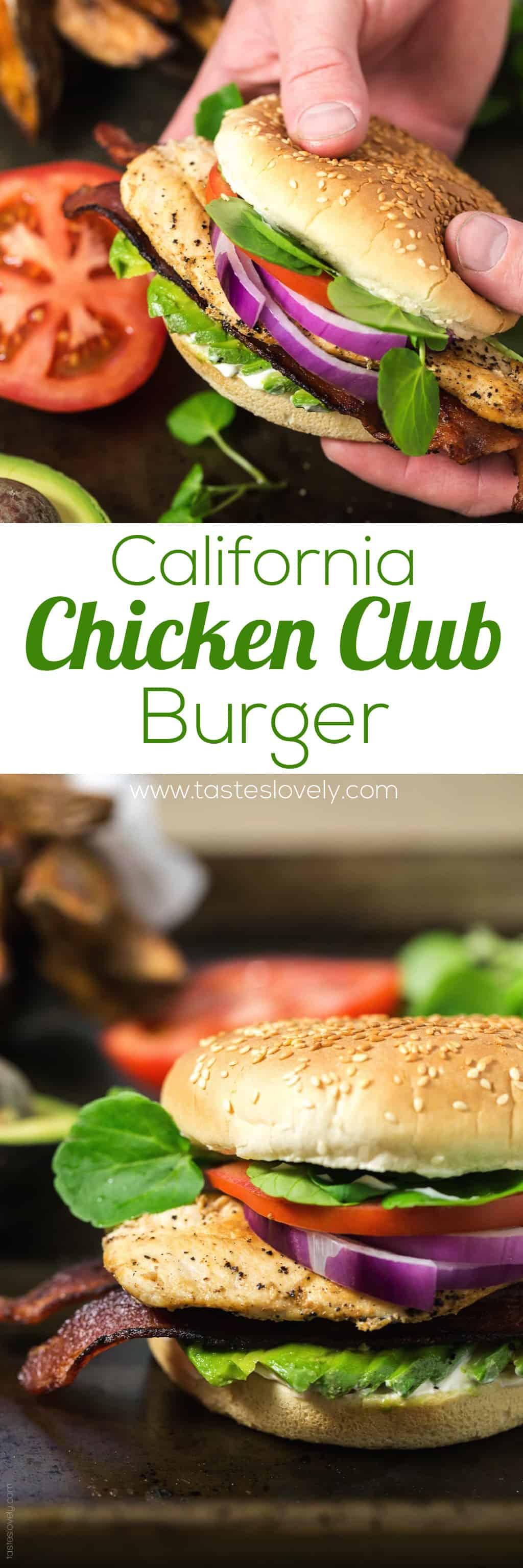 California Chicken Club Burger