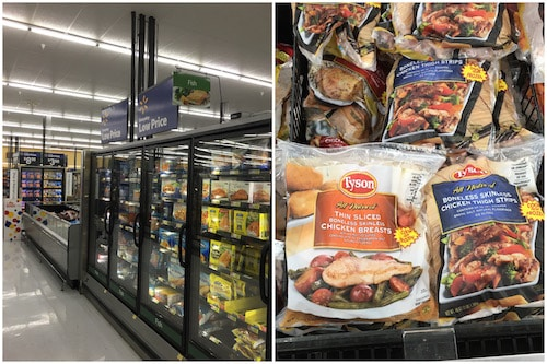 Where to find Tyson® Individually Frozen Thin Sliced Boneless Skinless Chicken Breasts at Walmart