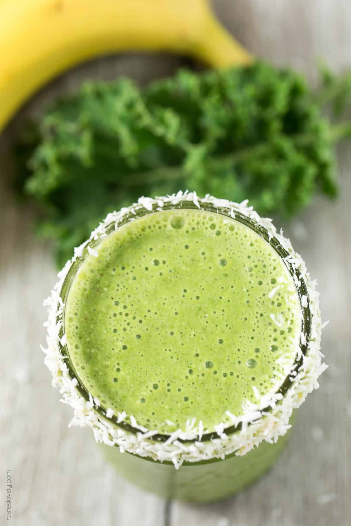 Kale Coconut Green Smoothie