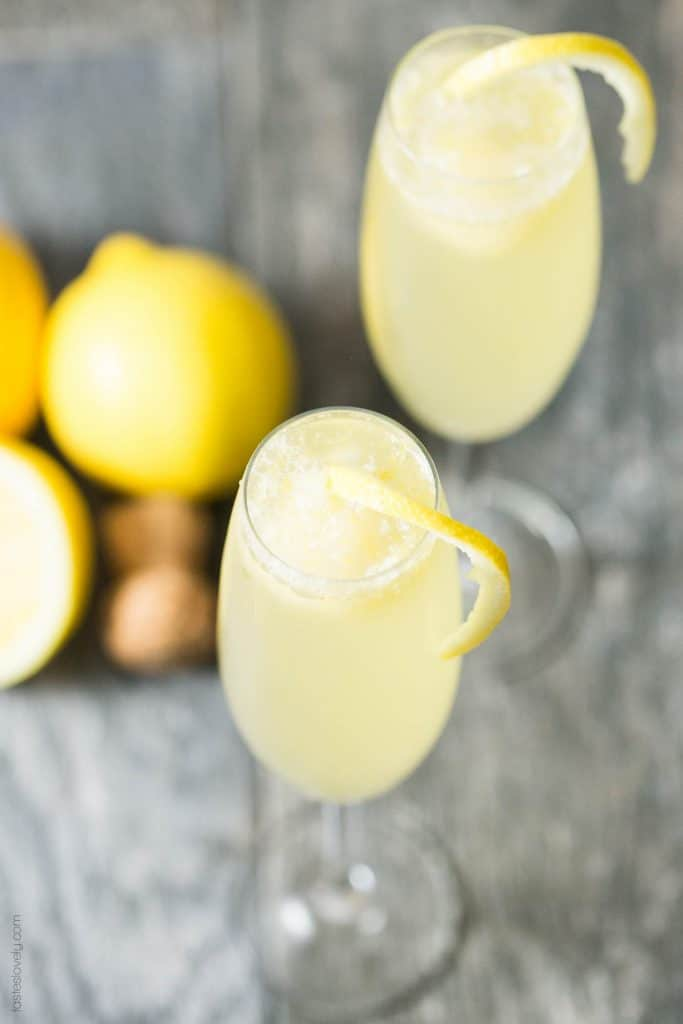 Lemon Sorbet Mimosa