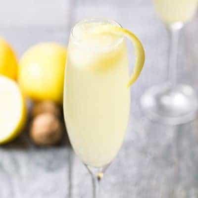 Lemon Sorbet Mimosa | tasteslovely.com