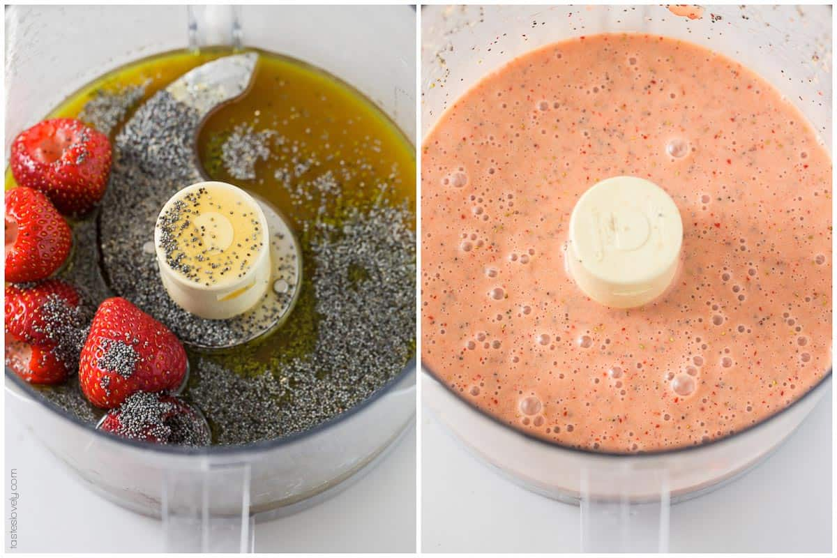 Paleo Strawberry Poppyseed Dressing - just 6 ingredients!