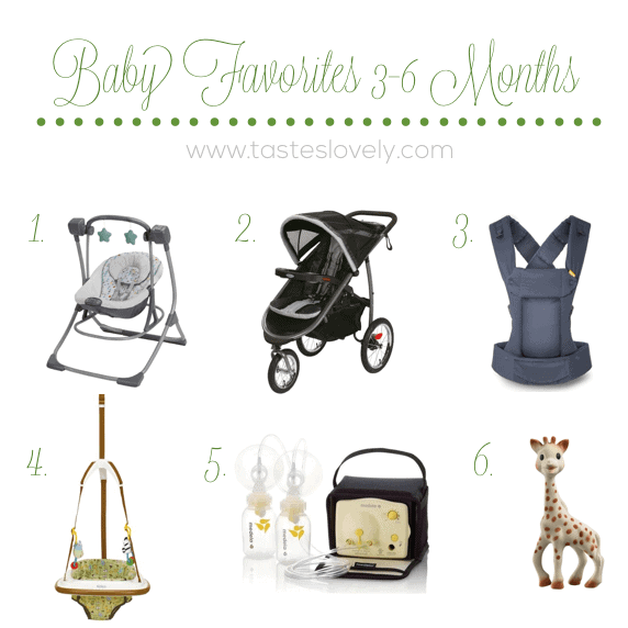 Baby Favorites 3-6 Months | tasteslovely.com