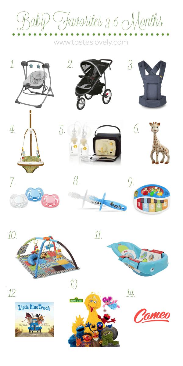 Baby Favorites 3-6 Months | tasteslovely.com