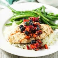 Grilled Chicken with Balsamic Berry Salsa
