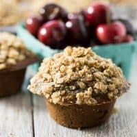 Healthy Cherry Oatmeal Muffins | tasteslovely.com