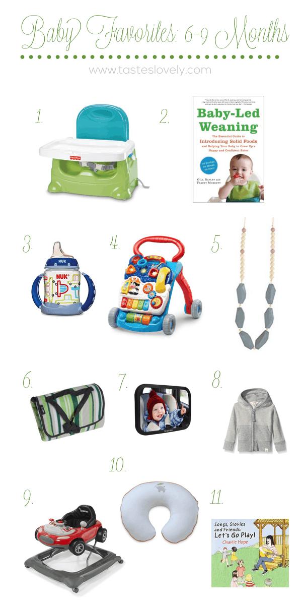 Baby Favorites 6-9 Months | tasteslovely.com