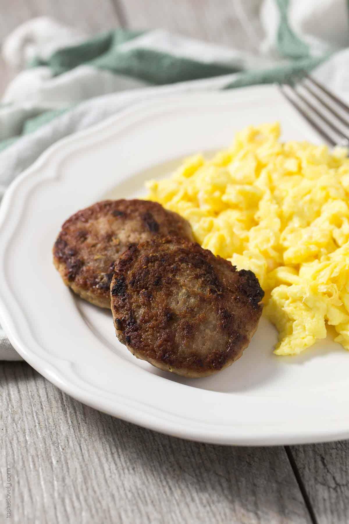 Homemade Paleo Breakfast Sausage Patties