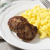 Homemade Paleo Breakfast Sausage Patties | tasteslovely.com