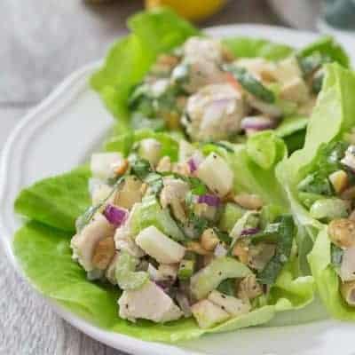 Paleo Lemon Basil Chicken Salad | tasteslovely.com