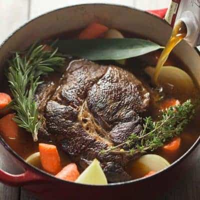 Paleo Pot Roast with Gravy | tasteslovely.com