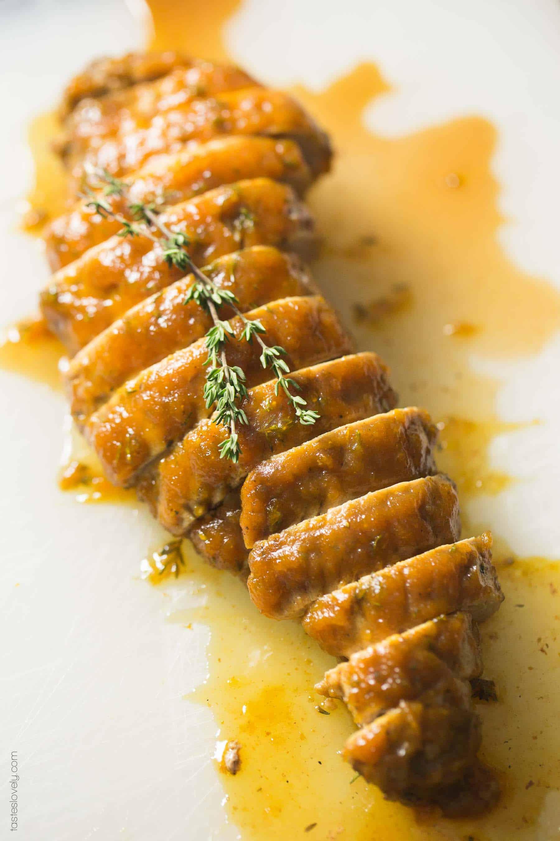 Pumpkin Butter & Thyme Pork Tenderloin - a paleo, gluten free, dairy free, refined sugar free dinner recipe
