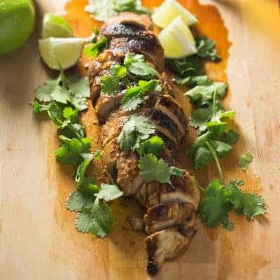 Paleo Chipotle Honey Lime Pork Tenderloin | tasteslovely.com