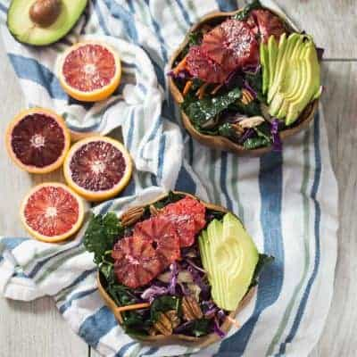 Winter Kale and Blood Orange Salad | tasteslovely.com