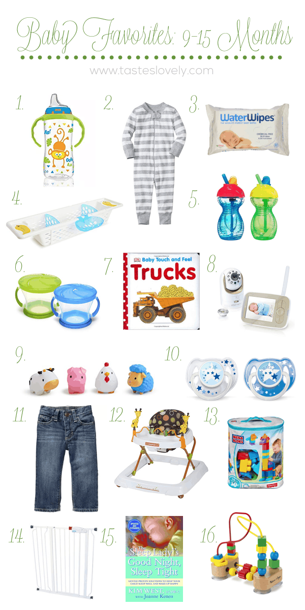 Baby Favorites 9-15 Months | tasteslovely.com