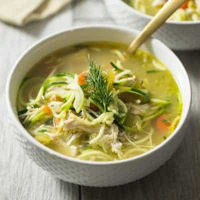 Chicken Zoodle Soup with Dill   tasteslovely.com