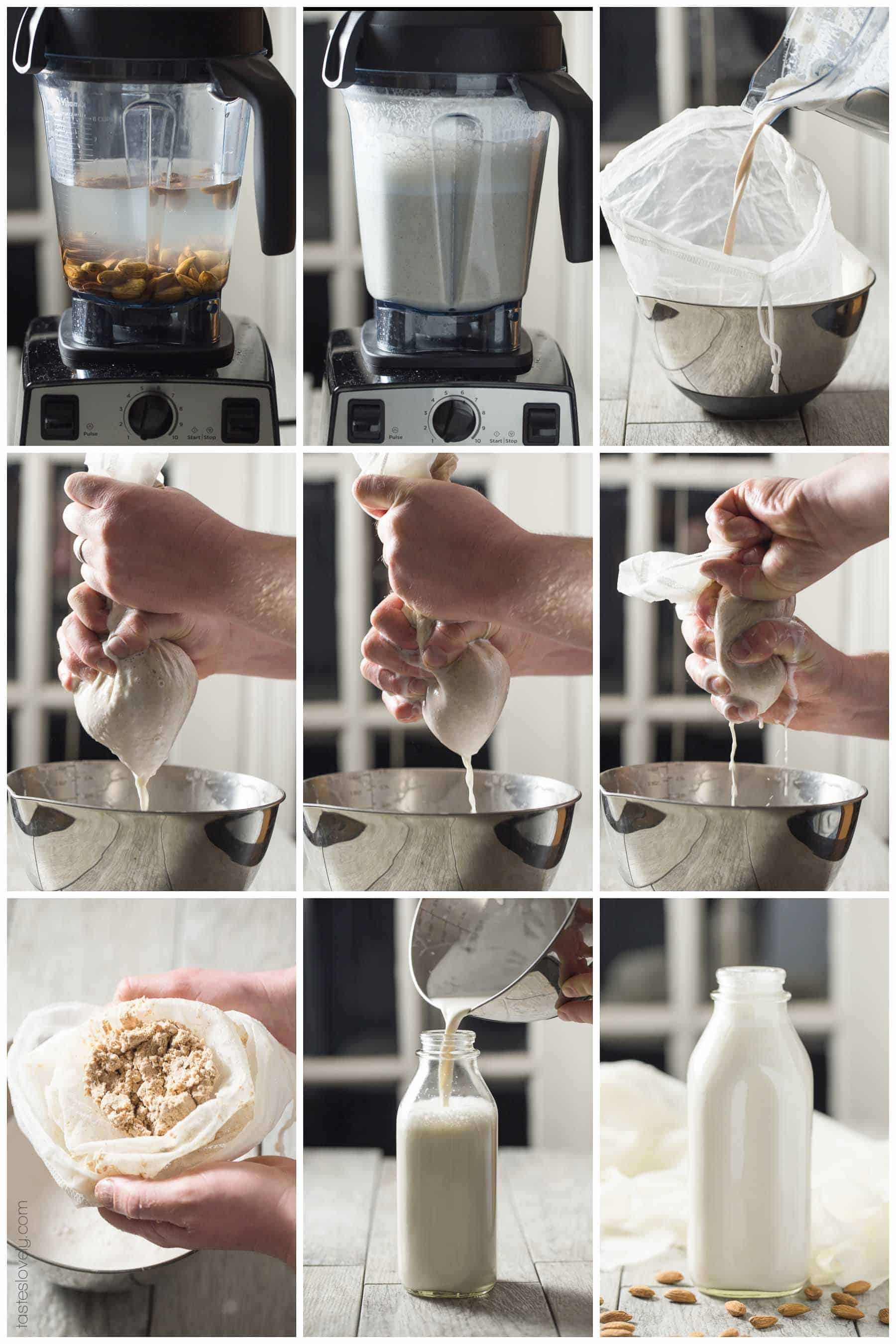 Paleo + Whole30 Homemade Almond Milk - just 2 ingredients! Paleo, Whole30, gluten free, grain free, dairy free