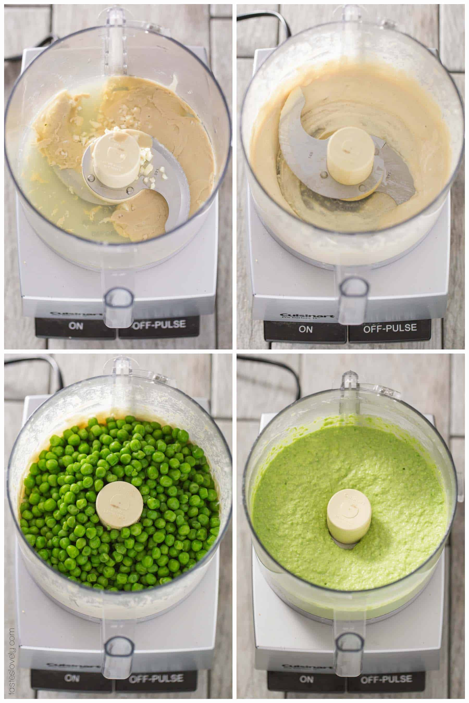 Paleo Sweet Pea No-Bean Hummus - a healthy spring appetizer served with my paleo almond pulp crackers. Paleo, gluten free, grain free, dairy free, sugar free.