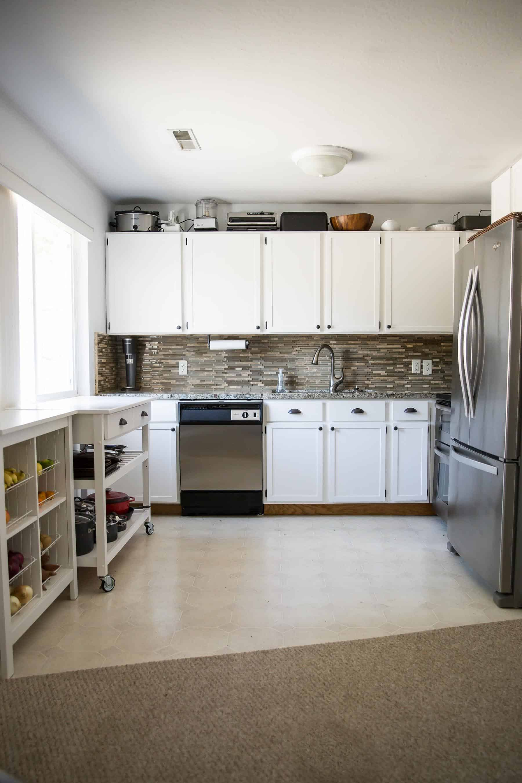 Our 281 Diy Kitchen Remodel Painting Oak Cabinets White Adding Wood Trim To