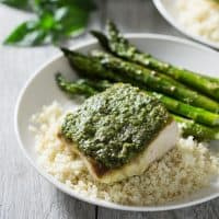 Pesto Mahi Mahi (Paleo, Whole30)