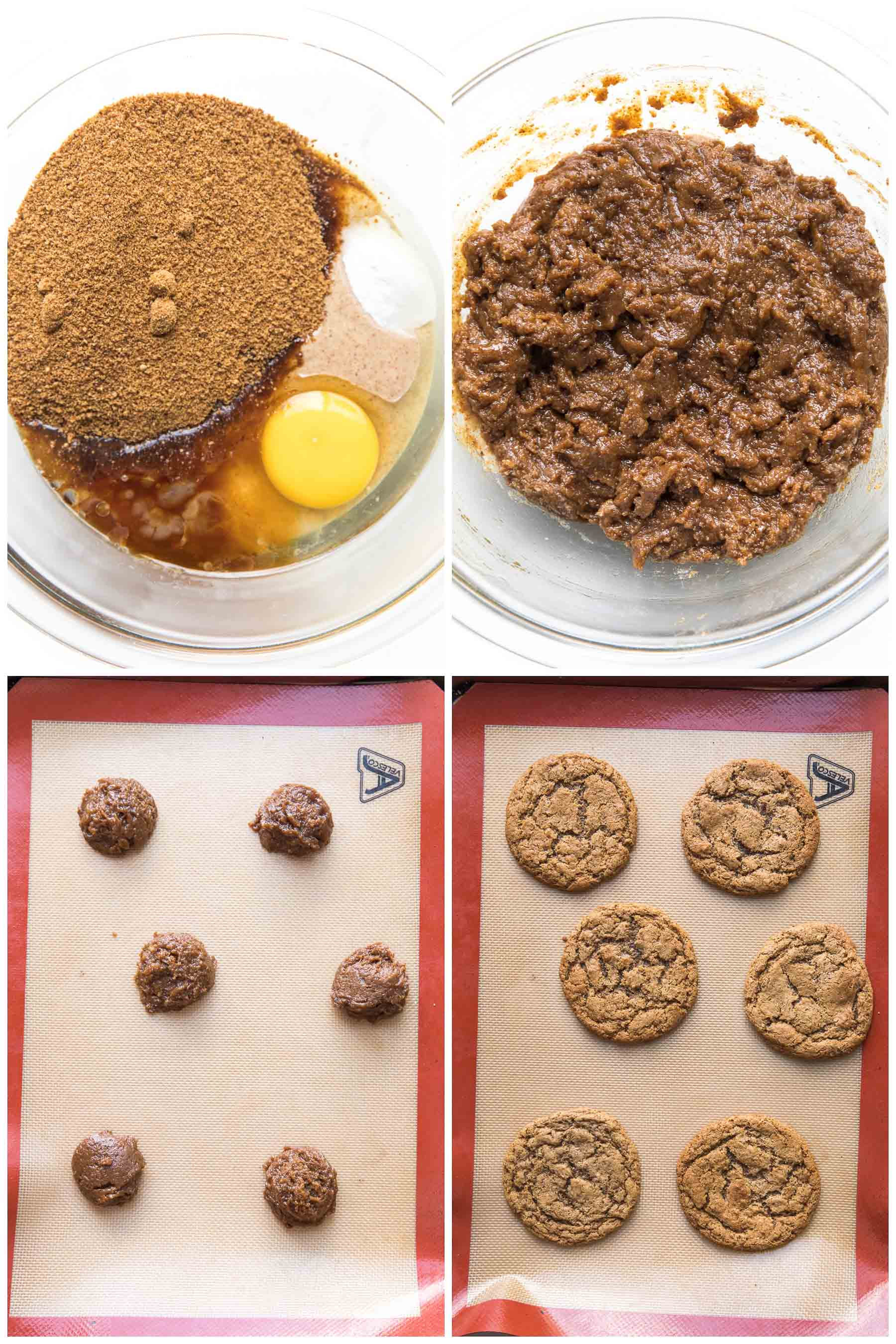 steps of making almond butter cookies