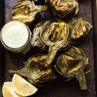 Paleo & Whole30 Grilled Artichokes