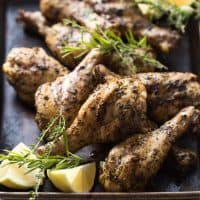 Grilled Lemon Herb Chicken Drumsticks (Paleo, Whole30)
