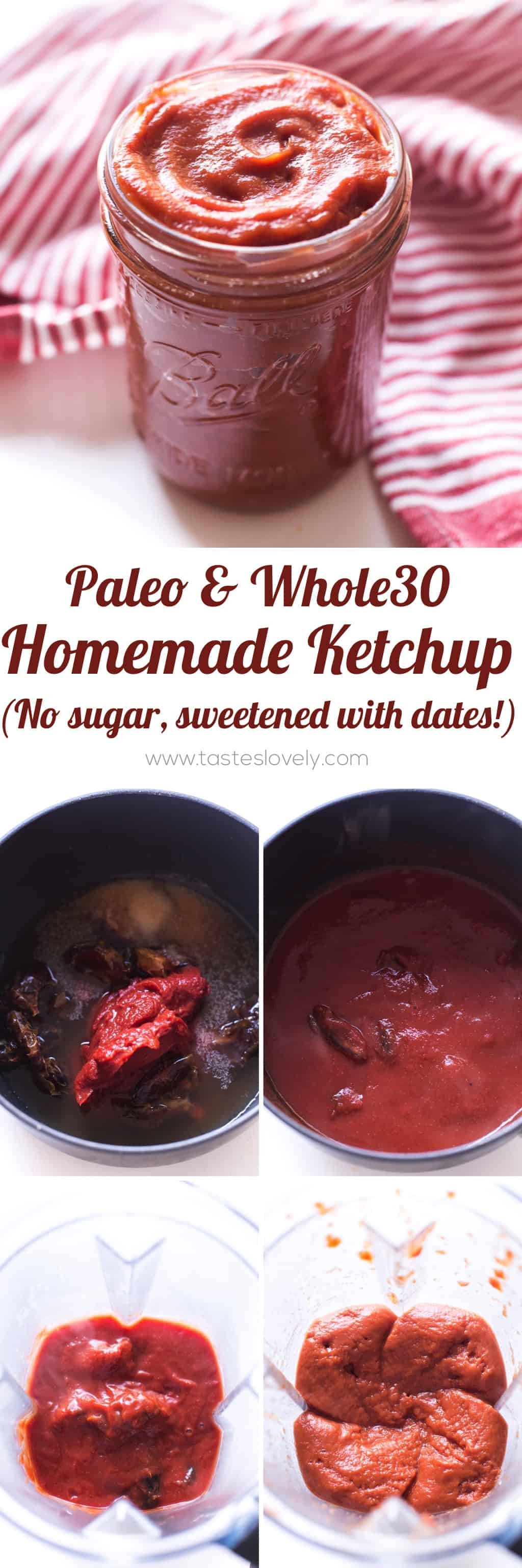 Easy Whole30 and Paleo Ketchup – a homemade Tessemae's ketchup copycat recipe (gluten free, grain free, dairy free, sugar free, vegan, clean eating)