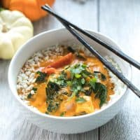 Paleo & Whole30 Pumpkin Coconut Thai Curry